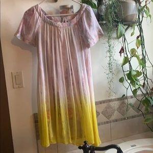 Anthropologie pastel dress